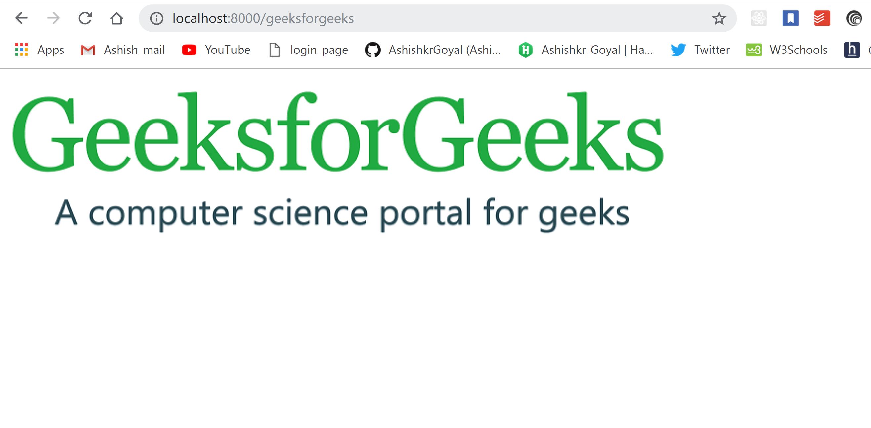 NodeJs - Handling invalid routes - GeeksforGeeks