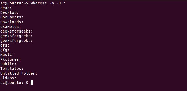 whereis command in Linux with Examples - GeeksforGeeks
