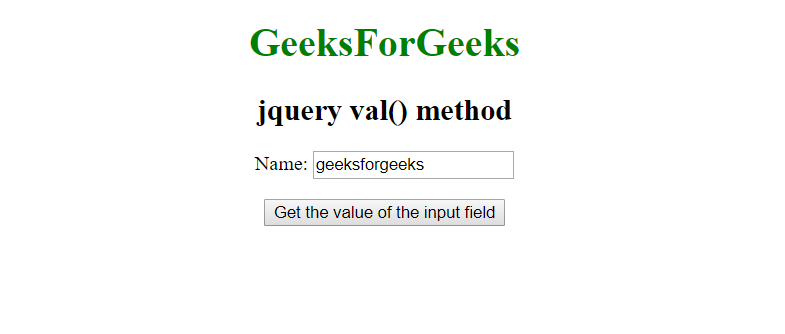 How to get the value of text input field using JavaScript