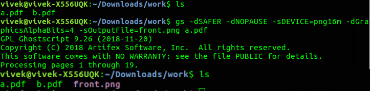 gs command in Linux with Examples - GeeksforGeeks