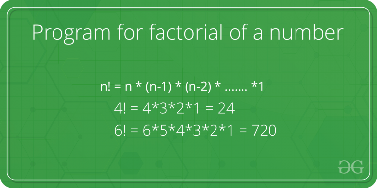 Factorial of a number