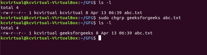 chgrp command in Linux with Examples - GeeksforGeeks