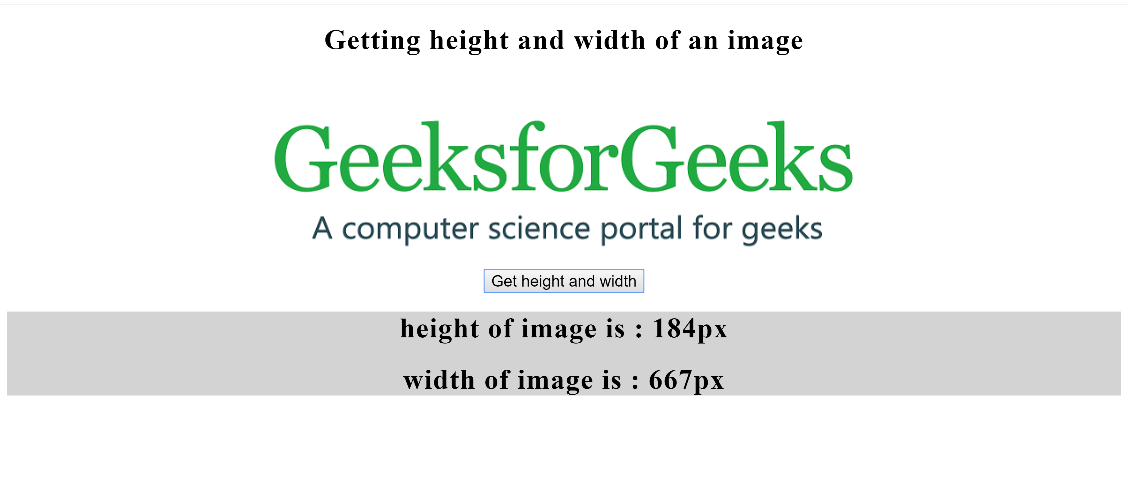 How to get the image size (height & width) using JavaScript
