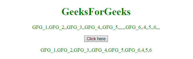 JavaScript | Remove empty elements from an array - GeeksforGeeks