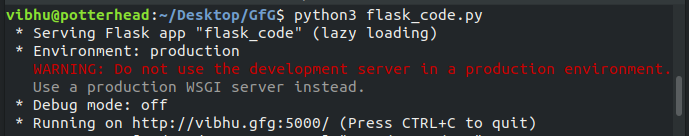 Subdomain in Flask | Python - GeeksforGeeks