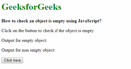 How to check an object is empty using JavaScript