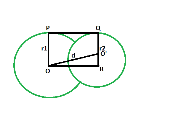 Length of direct common tangent between two intersecting Circles -  GeeksforGeeks