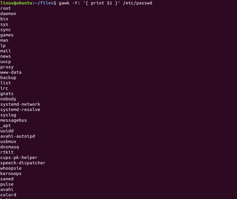 gawk command in Linux with Examples - GeeksforGeeks