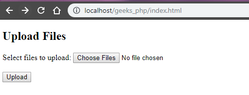 How to select and upload multiple files with HTML and PHP, using