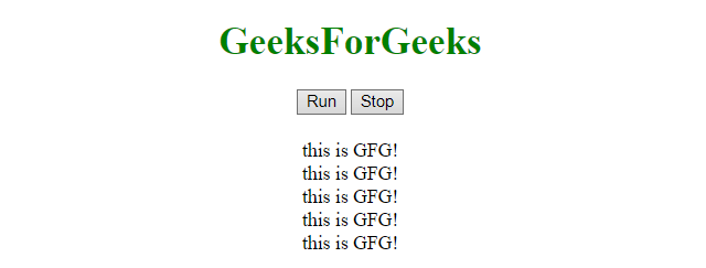 JavaScript | Call a function after a fixed time - GeeksforGeeks