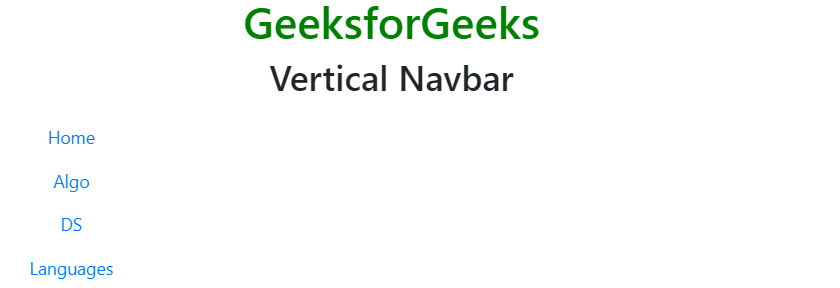 Bootstrap 4 | Navigation Bar - GeeksforGeeks