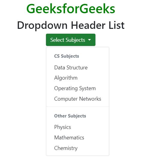 Bootstrap 4 | Dropdowns - GeeksforGeeks