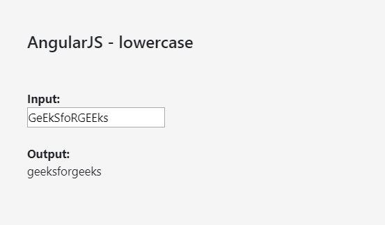 AngularJS | Filters - GeeksforGeeks
