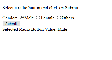 How to get value of selected radio button using JavaScript