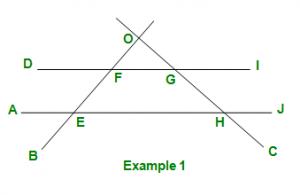 GRE Geometry | Lines and Angles - GeeksforGeeks