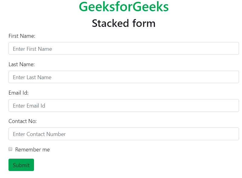 Bootstrap 4 | Forms - GeeksforGeeks
