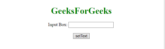 JQuery | Set the value of an input text field - GeeksforGeeks