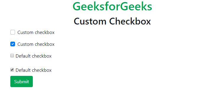Bootstrap 4 | Custom Forms - GeeksforGeeks