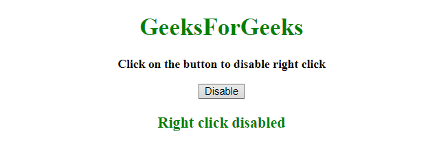 How to disable right click on web page using JavaScript