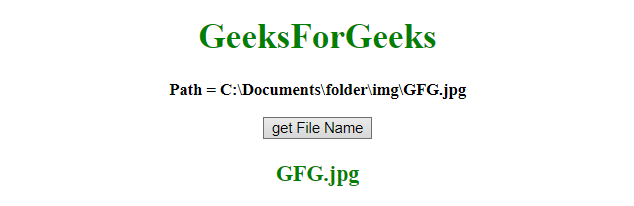 How to get the file name from full path using JavaScript