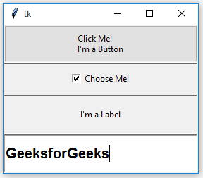 Python | PanedWindow Widget in Tkinter - GeeksforGeeks