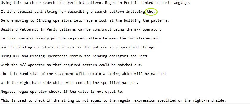 Perl | Searching in a File using regex - GeeksforGeeks