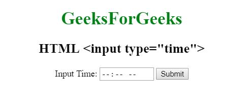HTML   <input type=