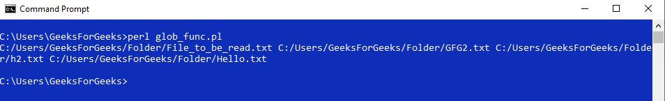 Perl | glob() Function - GeeksforGeeks