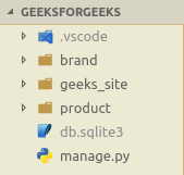 Directory after creating product app