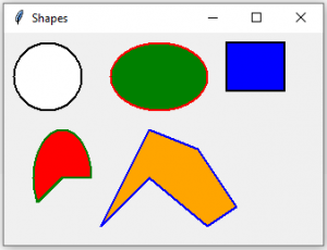 Python Tkinter | Create different shapes using Canvas class