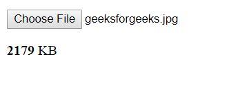 Validation of file size while uploading using JavaScript