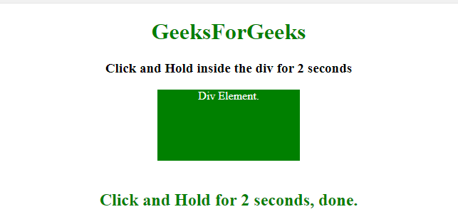 How to perform click-and-hold operation inside an element using