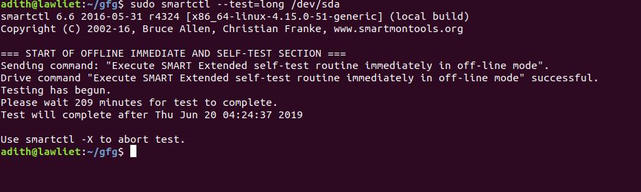 Python | Monitor hard-disk health using smartmontools