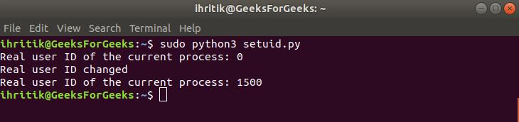 Setuid-terminal-output