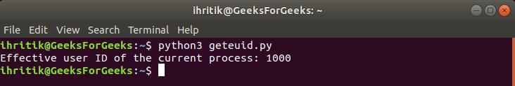 Geteuid-terminal-output