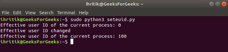 Setuid terminal output