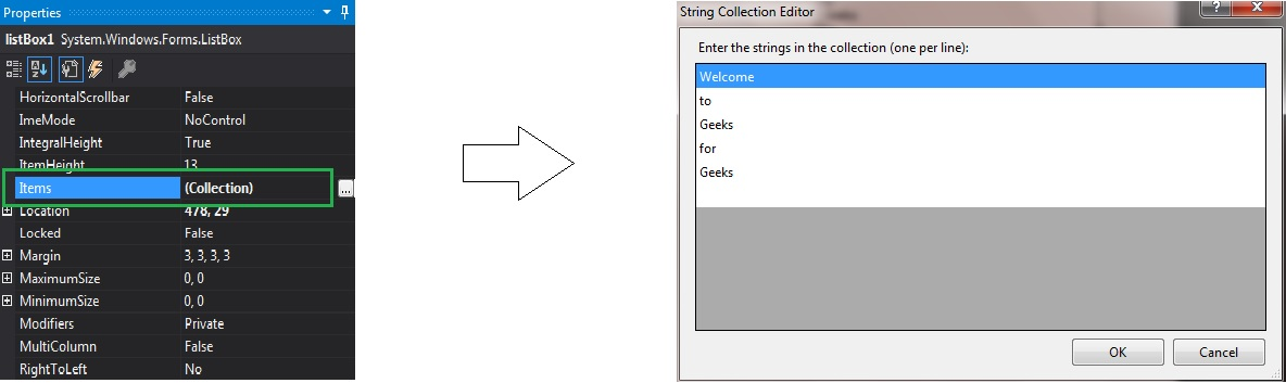 How to add Items in ListBox in C#? - GeeksforGeeks