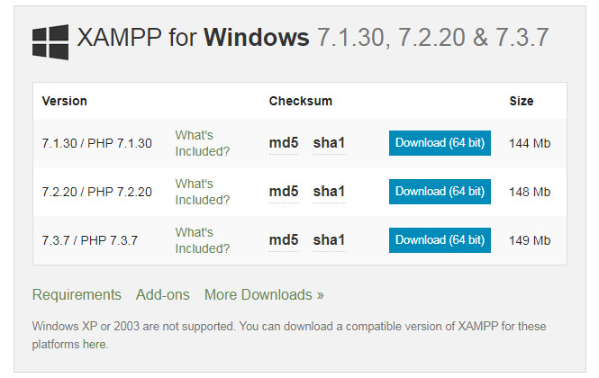 xampp-download-screen