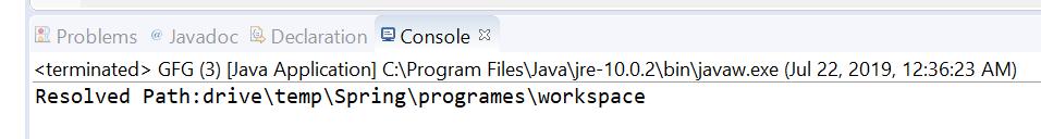 Path resolve() method in Java with Examples - GeeksforGeeks