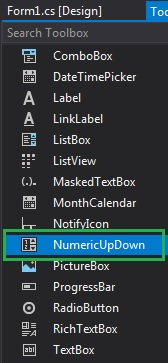 How to set the Decimal Places in the NumericUpDown in C