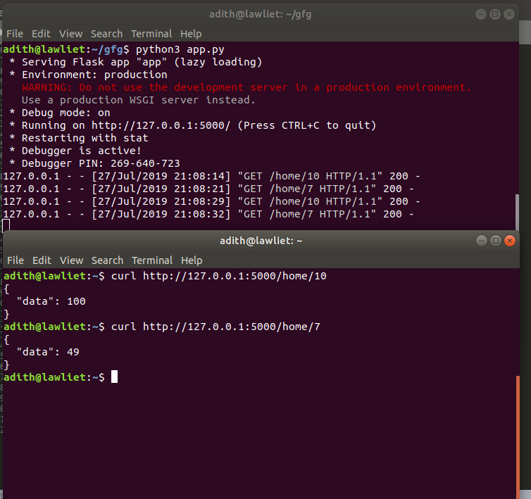 Python | Build a REST API using Flask - GeeksforGeeks