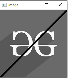 Python OpenCV | cv2 line() method - GeeksforGeeks