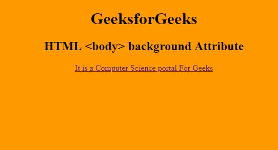 Html Body Background Attribute Geeksforgeeks