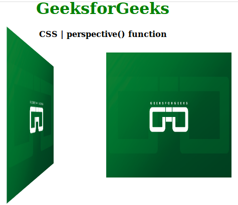 CSS perspective() function