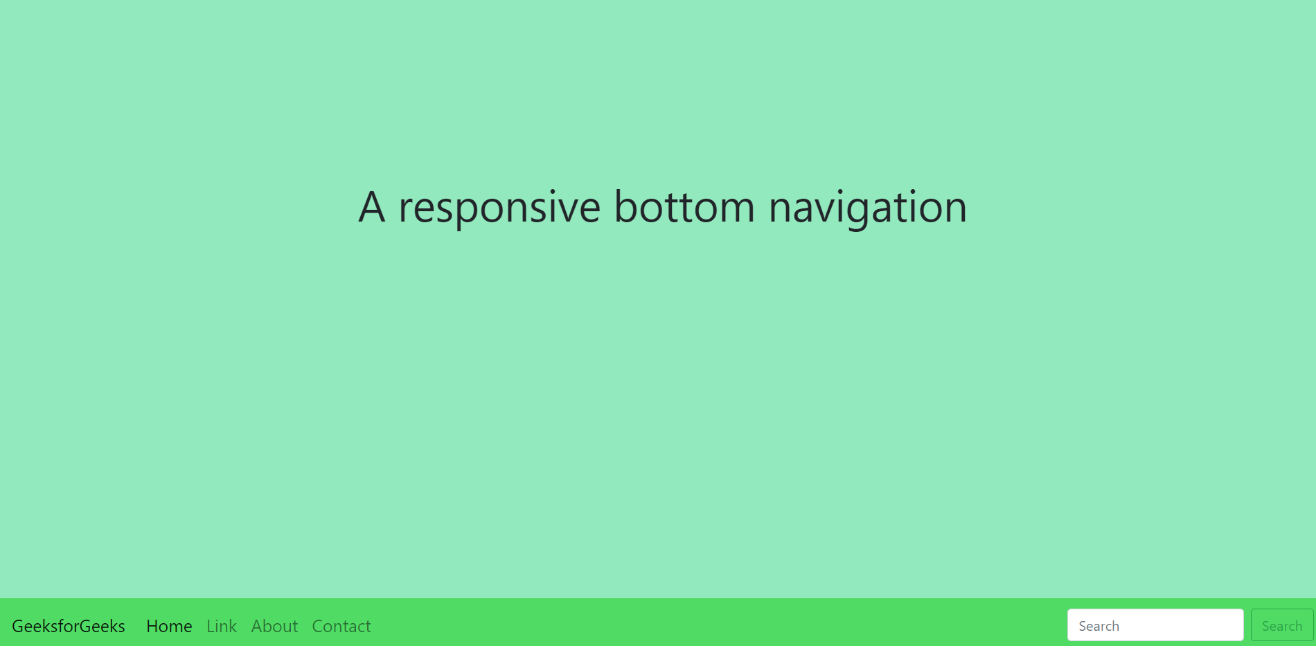 How to create Responsive Bottom Navigation Bar using