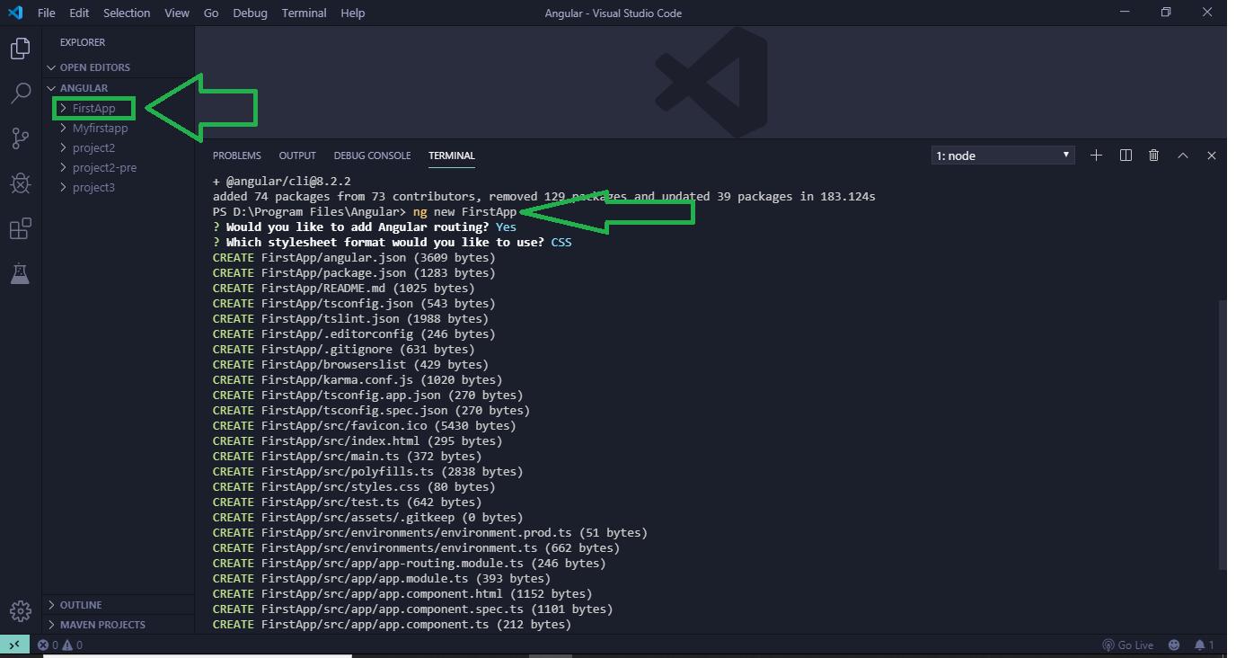 Angular 7 | Installation - GeeksforGeeks