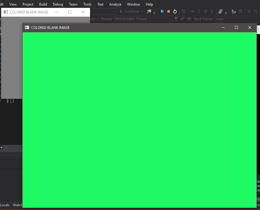 OpenCv | Coloured Blank Image - GeeksforGeeks