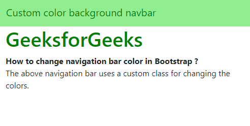 How to change navigation bar color in Bootstrap