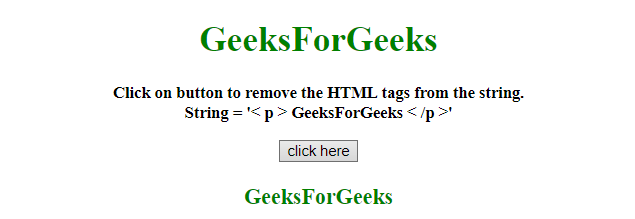 How to remove HTML tags with RegExp in JavaScript