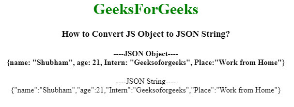 How to Convert JS Object to JSON String in JQuery/Javascript